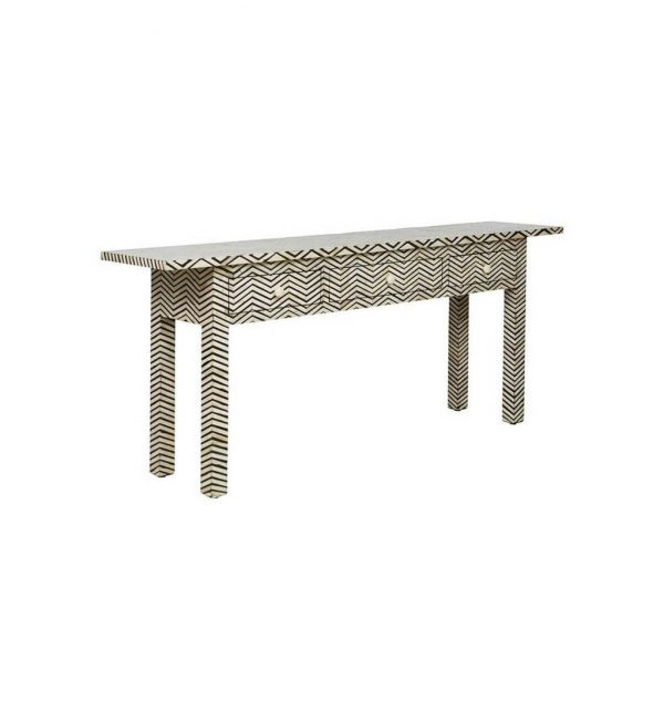 Boen Inlay Console with ZigZag Pattern