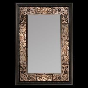 Black Bone Embossed Hallway Mirror