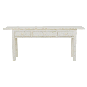 Floral Pattern Bone Inlay Console in Oriental Style