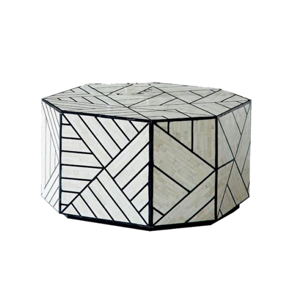 Bone inlay Geometric Coffe Table