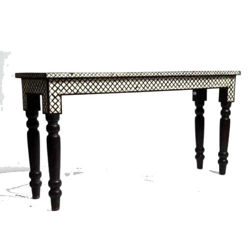 Handmade Mughal pattern Bone Inlay Console Table
