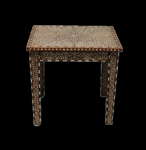 Teak Wood and Bone Inlay Table