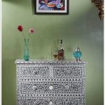 Black Bone Inlay Chest Of Drawer in Room