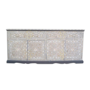 Mother of Pearl light Grey cabinet