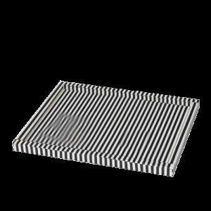 Black Stripes Bone Inlay Tray