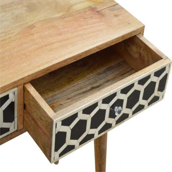 Bone Inlay Console showing an opened Drawer
