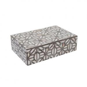 Bone Inlay Abstract Box - Grey