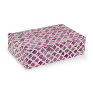 Bone Inlay Diamond Box - Pink