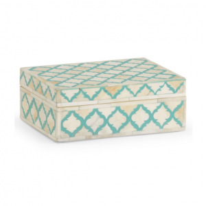 Bone inlay Moroccan Box - Turquoise Blue