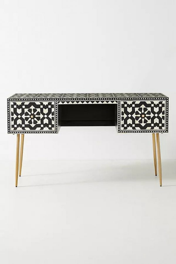 Moroccan Bone Inaly Desk from front