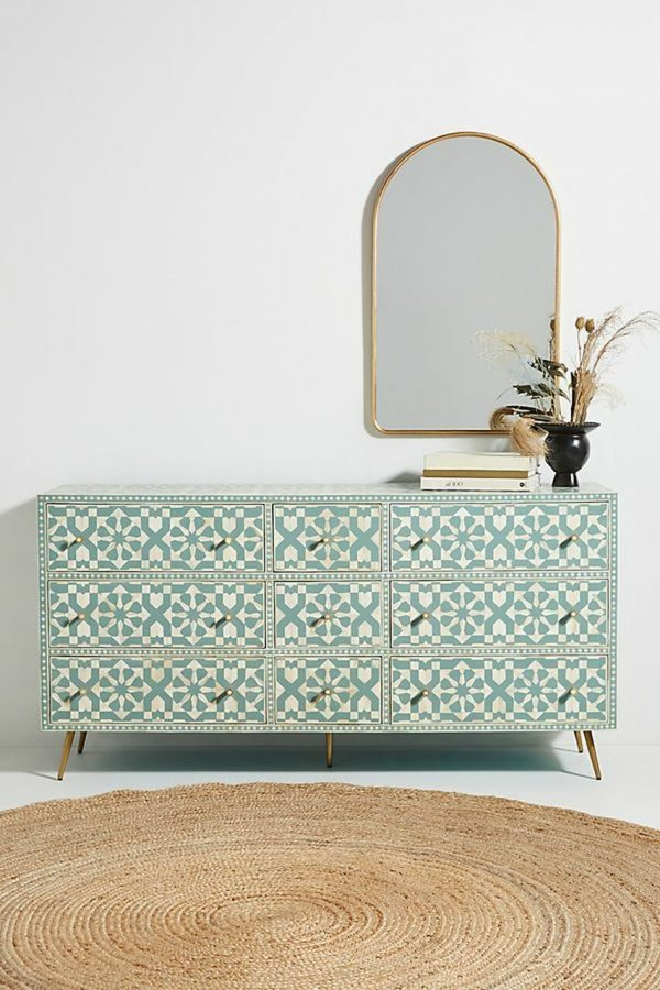 Bone Inlay Marrakesh 9 Drawer Chest